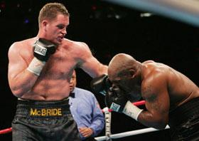 A McBride lefthook took out Tyson 