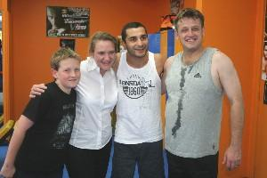 Vic Darchinyan & the Barr family