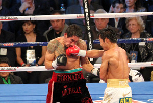 Pacquiao found Margarito at will with stunning accuracy and power. Photo by Tri Nguyen.