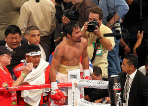 Who is next? Pacquiao is running out of opponents. Will Mayweather step up? Photo by Tri Nguyen.
