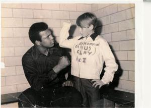 A young Smitty fools around with The Greatest