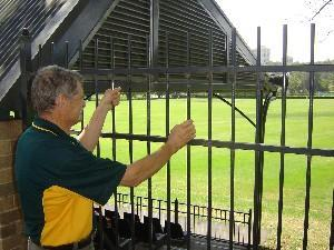 Alan Moore looks over the Sydney Grammar School playing fields