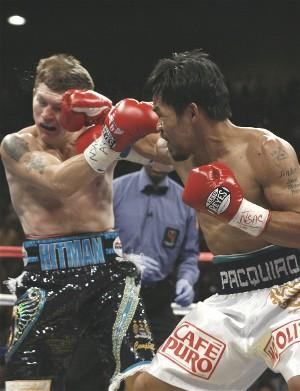 Pacquiao badly  ko'd Hatton last time out