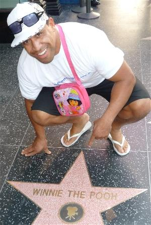 John Hopoate in Hollywood
