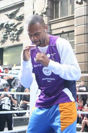Roy Jones Jr shows his moves