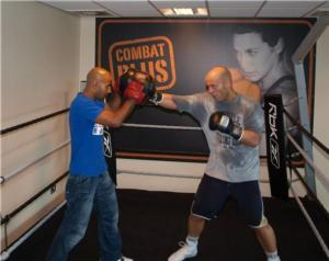 Ryan works out with trainer Dave Coldwell