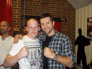 Jamie Wood with Carl Froch