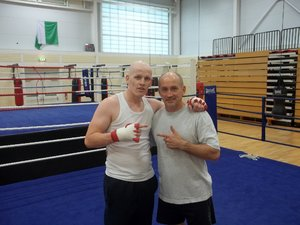 Jamie Wood with Barry McGuigan