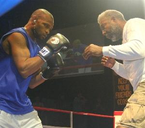 Roy Jones Jr & trainer Alton Merkerson