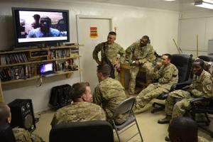 Mayweather talks to American troops