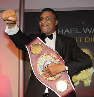 Micheal Watson with his WBO belt