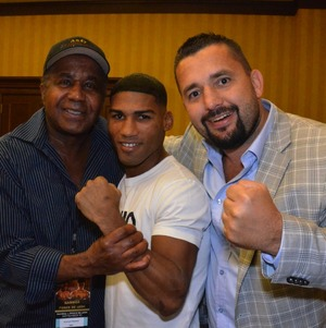 Steward Gamboa and Oner pose for the camera