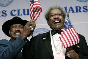 Promoter Don King with the late great Joe Frazier