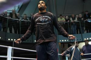 Eddie chambers training for Klitschko