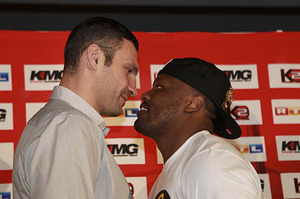 Klitschko and Chisora face to face