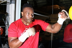 Chisora works out in north London pic Stefan Baisden