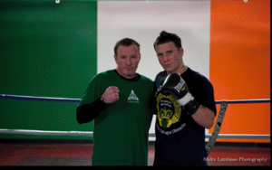 Danny O'Connor with Mickey Ward(L)