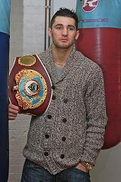 Cleverly with his WBO belt