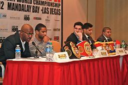 Peterson/Khan ll press conference (pic Stefan Baisden)