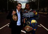Quigg and Munroe show off their title belts