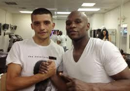 Lee Selby with Floyd Mayweather