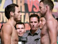 (L) Chavez 159 lb, (R) Lee 159.25lb - Photo  Chris Farina / Top Rank