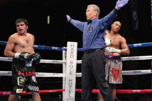 Referee waves off the fight