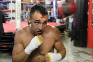 Malignaggi works out in Brooklyn