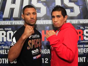 Kell Brook and Hector Saldivia (pic Lawrence Lustig)
