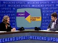 (SNL - Weekend Update's Point/Counterpoint featuring Jane Curtin & Dan Aykroyd)