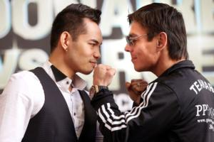 Donaire And Arce up close (pic Chris Farina)