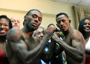 Walters and Prescott at weigh in