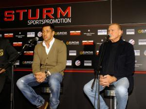 Sturm and Sdunek at the presser