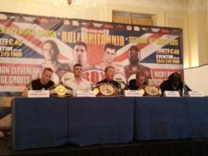 Groves.Cleverly, Warren, Burns And Chisora at press conference