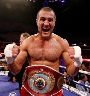 Kovalev with the WBO belt