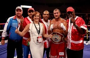 Team Kovalev celebrate win