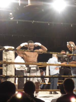 Ndou velebrates victory in South Africa