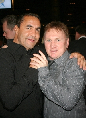 three division world champion Jeff Fenech &amp; Hall of Fame Chairman Brett McCormick