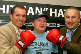 The new Team Hitman: Dennis Hobson, Ricky and Robert Waterman (Pic Mr Will)