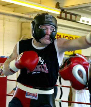 Hatton in sparring (Mr Will/HoganPhotos)