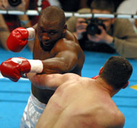 Williams in action against Klitschko (Mr Will)